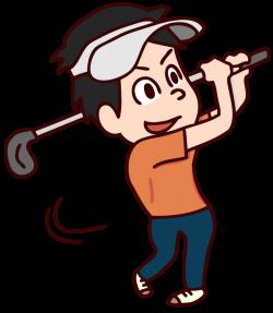 30歳前後のアマチュアゴルファーの画像