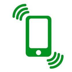 着信している携帯電話の画像