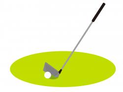 ゴルフボールとアイアンの画像