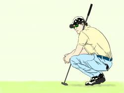 いかにもゴルフが上手そうな男性の画像