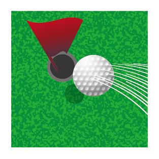 シンプルにアプローチして球がピンそばに向かっている画像