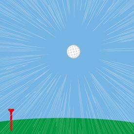 飛距離の出る球筋のイメージ画像
