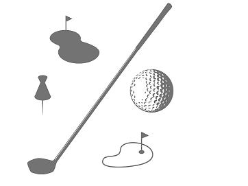 ゴルフのアプローチのイメージ画像