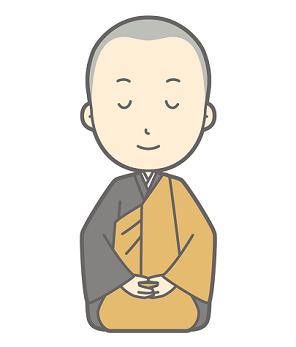 煩悩を振り払うべく瞑想している僧侶の画像