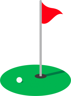 ゴルフのグリーン周りの画像