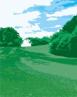 ゴルフ場の綺麗な景色