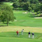 ゴルフのトーナメントツアーを戦っているトッププロたちの画像
