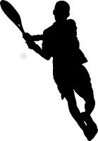 躍動する一流テニスプレイヤーのイメージ